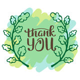 Thank you very much. Hand lettering inscription Stock Images