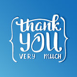 Thank you very much. Hand lettering inscription Stock Photo