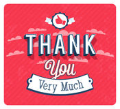 Thank you very much vintage emblem. Royalty Free Stock Photos