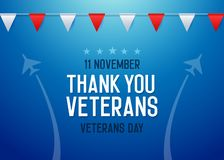 Thank you Veterans background. Vector illustration for veterans day 11 November national holiday in the us royalty free illustration