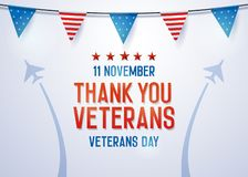 Thank you Veterans background. Vector illustration for veterans day 11 November national holiday in the us stock illustration