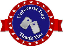 Thank You Veterans Day. Blue flag Veterans Day on white background Stock Photography