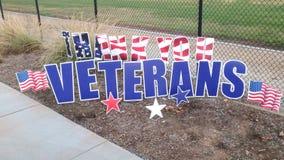 Thank You Veterans Display Along the Roadside