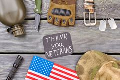 Thank you veterans flat lay.