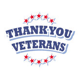 Thank you veterans. Heroes american background Royalty Free Stock Photo