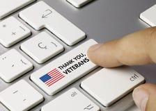 Thank You, Veterans - Inscription on White Keyboard Key