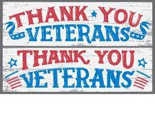 Thank you veterans wood signs