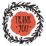 Thank you Vignette with love Royalty Free Stock Images