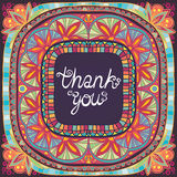 Thank You Vintage Abstract Frame Illustration Royalty Free Stock Photos