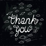 Thank You Vintage Chalk Style Illustration Royalty Free Stock Images