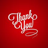 Thank you vintage lettering background Royalty Free Stock Photos