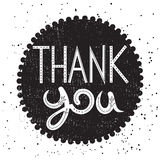 Thank you - Vintage poster Stock Image