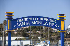 Thank You For Visiting The Santa Monica Pier Sign Royalty Free Stock Image