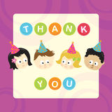Thank You w/ kids (mixed nationalities) Royalty Free Stock Photo