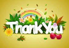 Thank You wallpaper background Stock Photography