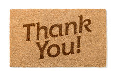 Thank You Welcome Mat On White. Thank You Welcome Mat Isolated On A White Background Stock Image
