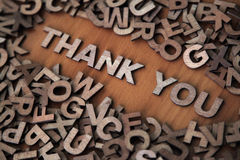 Thank You. Wooden letters forming the words Thank You royalty free stock images
