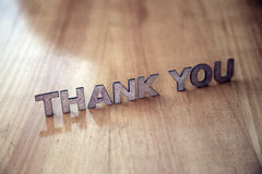 Thank You. Wooden letters forming the words Thank You Royalty Free Stock Image