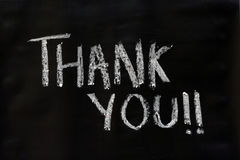 Thank you word on black board Royalty Free Stock Photography