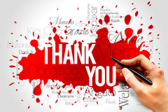 Thank You. Word Cloud background, all languages Stock Photography