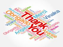 Thank You Word Cloud background vector illustration