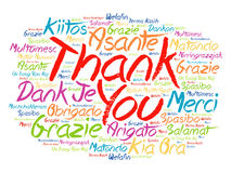 Thank You Word Cloud background Royalty Free Stock Images
