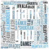 Thank you word cloud stock illustration