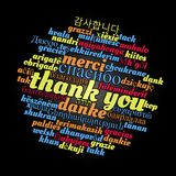 Thank you word cloud concept vector illustration
