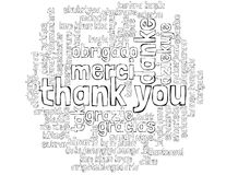 `thank you` word cloud in many languages Royalty Free Stock Image