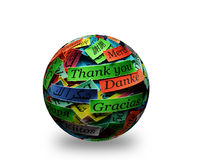 Thank You. Word Cloud printed on colorful  paper different languages Stock Photos