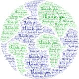 Thank You Word Cloud. On a white background vector illustration