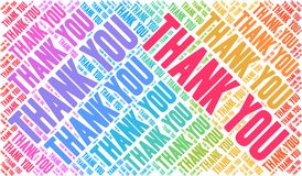 Thank You Word Cloud Royalty Free Stock Images