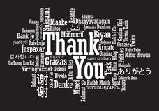 Thank You Word Cloud. In vector format Royalty Free Stock Photo