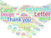 Thank You Word Cloud Royalty Free Stock Photography