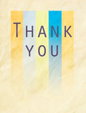 Thank you word on colorful paper Stock Image