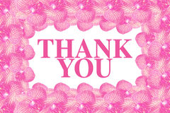 Thank you word inside flower frame Royalty Free Stock Image