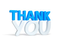 Free Thank You Word Over White. Render Royalty Free Stock Photo - 92410985