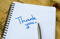 Thank you wording on a book Royalty Free Stock Images