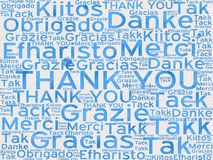Thank You words in different languages as background Stock Photography
