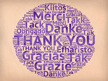 Thank You words Royalty Free Stock Photo