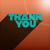 Thank You Words Striped Background Royalty Free Stock Photo