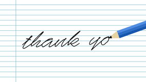 Thank you writing hello on paper. Digitally generated of thank you writing hello on paper stock video