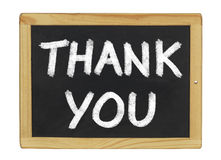 Thank You written on a board Stock Image