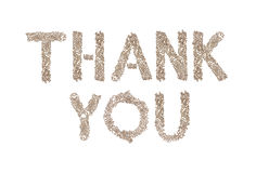Thank You written with small cubes Stock Images