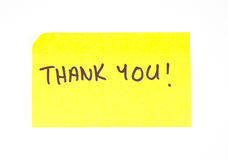 'Thank You' written on a sticky note Stock Photos