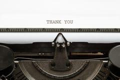 Thank You, written in vintage typewriter