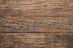 Thank You written on wooden background Royalty Free Stock Photos