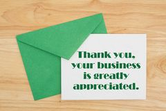 Thank You for your business message