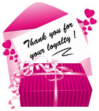 Thank you for your loyalty. Stock Photography