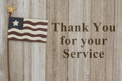 Thank you for your service message Royalty Free Stock Images